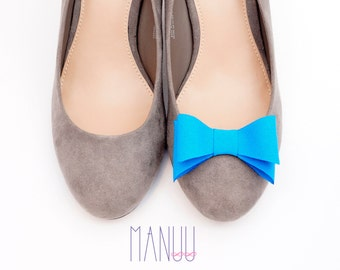 Blue bows - Shoe bows Manuu, Shoe clips Manuu, Blue shoe clips