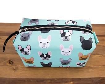 French Bulldog Gifts - French Bulldog Bag - Makeup Bag - Dog Lover Gift - French Bulldog Case - French Bulldog Purse - Toiletry Travel #48