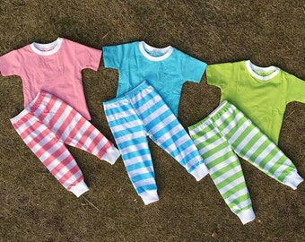 IN STOCK!! Spring & Easter Pajama Set -Pink, Blue or Green