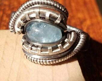 Aquamarine ring size 9 1/2