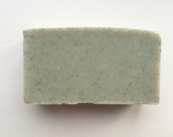 Handmade CONIFEROUS GREEN Clay soap with green clay, natural herbal vegan organic body soap bar with essential oils