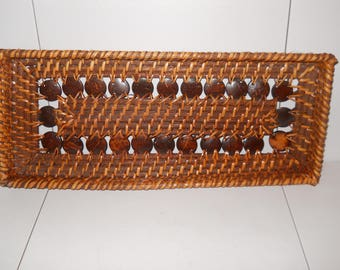 Vintage Hand Woven Wicker Tray