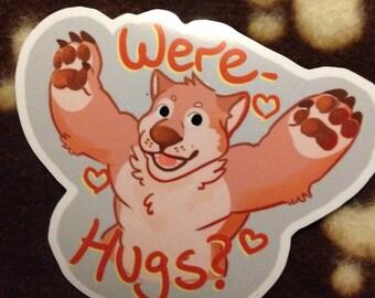 Were-hugs? Werewolf stickers