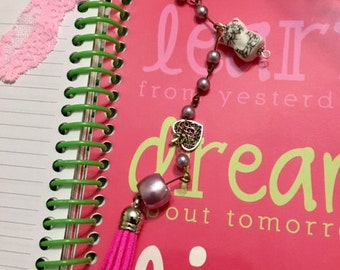 Planner Tassel, Notebook Page Saver, Handbag Charm, Key Chain, Zipper Charms, SandyNationJewelry