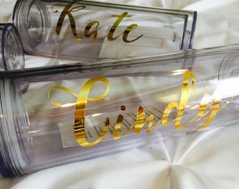 16 Oz Personalized Tumbler Custom Bridal Party Favors Bachelorette Wedding Bridesmaid Gifts Shower Birthday Christmas