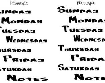 Days of The Week (Bold Marker)