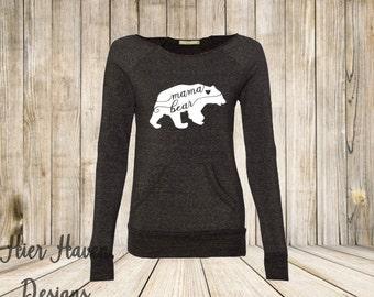 Mama Bear wideneck eco sweatshirt
