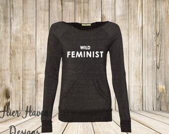Wild Feminist Wideneck Eco Fleece sweatshirt