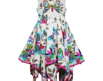 Girls Dress Kids Girl Floral Butterfly Sleeveless Dresses Children 3-10 Years