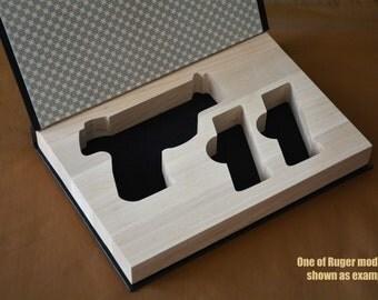 GunBook for Walther PP handgun mag hollow hidden carry box booksafe case safe