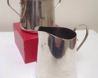 Silver plate (EPNS) milk jug & sugar bowl