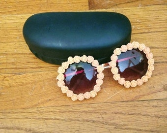 Hippie sunglasses, festival sunglasses, festival fashion, flower sunglasses, boho sunglasses, oversized sunglasses