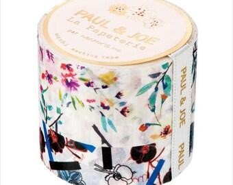 Paul&Joe (E) La Papeterie washi masking tape 2 rolls set Stripe Bouquet and Orchid design