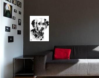 Dalmatian A4 print // dalmatian print // dalmatian drawing // dalmatian painting // dalmatian gifts // dalmatian portrait // dog portrait
