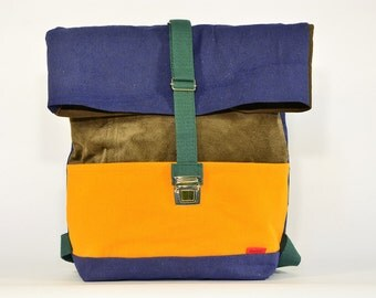 CUATRICO large backpack / Upcycling bagpack