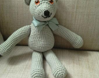 Super Soft Snuggly Homemade Crochet Teddy Bear