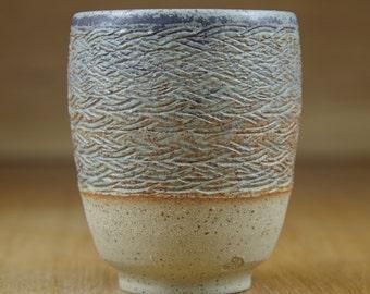Handless Mug, Pottery Cup, Handmade Stoneware Teacup, Coffee Cup, Ceramic Mug