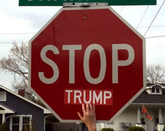 Anti Trump sticker- (stop) Trump
