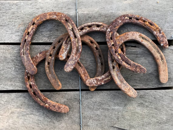 10 old horseshoes lucky horseshoe rustic decor barn for Old horseshoe projects