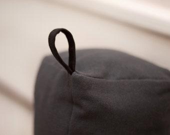 Doorstop|Fabric doorstop|Gray doorstop|Home decor|Family gift|Housewarming gift