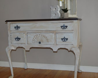 Lowboy Queen Anne Style Server, Dresser, Table