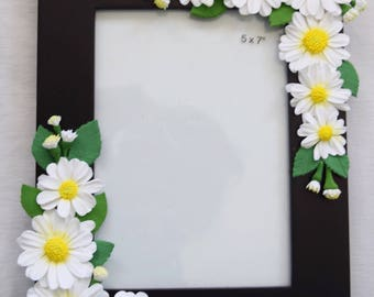 Clay flowers photo frame perfect for any special occasion