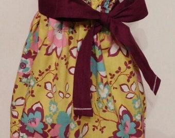 Boho Baby Handmade Sundress, Toddler Sundress, Custom Girl Sundress, 5 Colors to Pick From