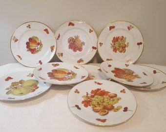 ON SALE, Seltmann Weiden, Seltmann Weiden China, West Germany China, German Porcelain, Fruit Plates, Vintage Porcelain, Bavarian Porcelain