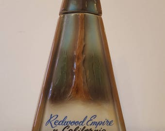ON SALE, Jim Beam Bottle, 1967 bottle, Redwood Empire Bottle, Jim Beam Decanter, Porcelain Bottle, Redwood California, Collectible Bottles