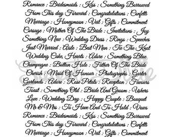 Sweet Dixie Wedding Collection Clear Stamp - Wedding Script