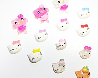 Kawaii Hello Kitty cabochons