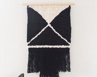Woven Wall Hanging: Boho Tapestry, Laneways Weaving