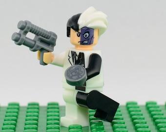 Two-Face Custom minifigure (Lego Compatible) DC Comic Batman Villain Superhero Harvey Dent Dark Knight Arkham Asylum Christmas Stocking #2