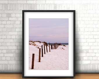 Beach Print, Beach Photo, Beach Photography, White Sandy Beach Photo, Wall Art, Decor, Print, Photo, 5x7, 8x10, 8x12, 11x14, 12x18, 16x20