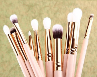 12 Pcs Pro Makeup BRUSHES Set Foundation Powder Cosmetic Eyeshadow Eyeliner Lip Brush Tool