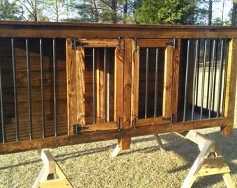 Indoor wooden dog kennel / crate