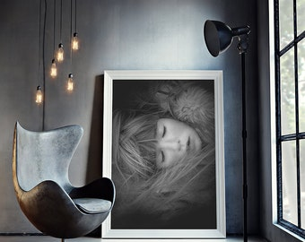 Fashion Print, Modern Print, Fashion Decor, Gift for Her, Glamour Fashion Girl, Digital Download - 077