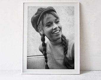 Jane Fonda Print 1966, Jane Fonda Poster, Wall Art, Jane Fonda Photography, Digital Download - 091
