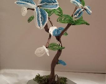French Beaded Bonsai Tree
