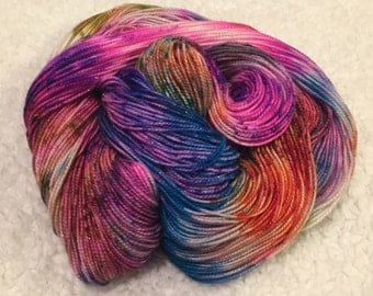 Hand dyed SPARKLY yarn