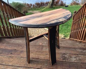 Whisky Barrel Stave Side Table