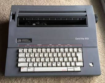 WORKING TESTED CLEANED Vintage Smith Corona DeVille 410 Electric Typewriter with Original Case