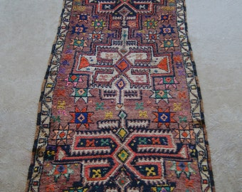 "3'1""x7'6"" Antique Runner Rug, Turkish Hallway Runner Rug, Vintage Runner Rug"