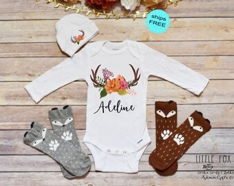 Boho Baby Clothes, Baby Girl Clothes, Baby Shower Gift