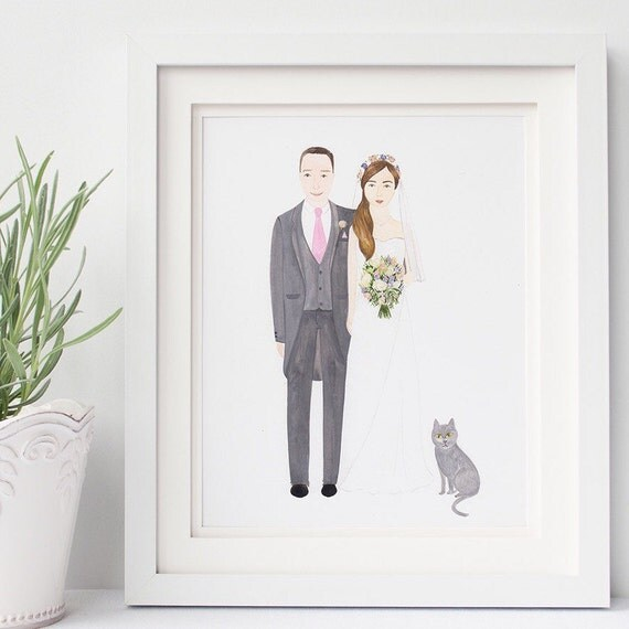 Personalised Wedding Gift Portrait : ... Gifts Guest Books Portraits & Frames Wedding Favors All Gifts