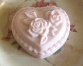 Pink Heart Soap with Roses