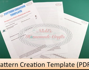 PATTERN CREATION TEMPLATE * pdf download *crochet *knitting *create your own pattern with this template *easy *fast *efficient
