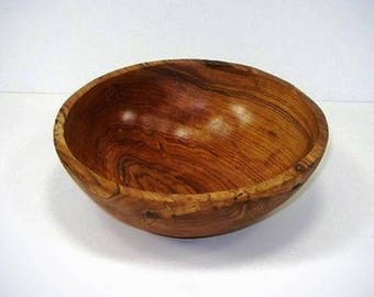 9 Inch Hand Carved Olive Wood Bowl