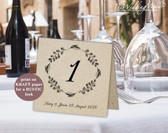DIY Table Numbers DIY Place Cards Wedding Table Numbers Number Cards Rustic Numbers Seating Numbers DIY Printable Numbers printable pdf 006