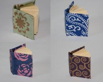 Handbound hardback miniature books - New designs!